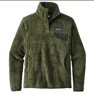 Women's large green Patagonia Retool snap fleece